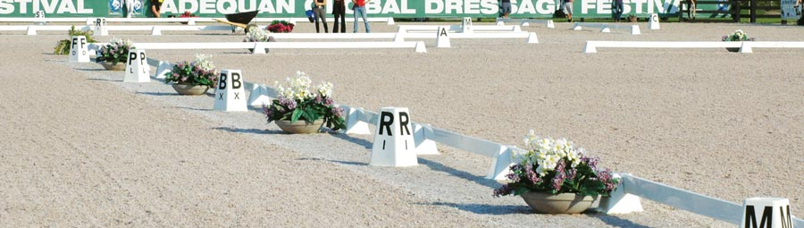 Berkshire Dressage Letters at the Adequan Global Dressage Festival
